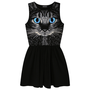 Fashion Cat Punk Sleeveless Vest Dress