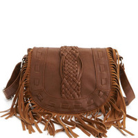 Charlotte Russe - Small Fringe-Flap Bag