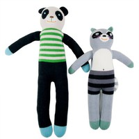 Poketo Knit Dolls - Panda &amp; Raccoon