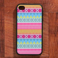 Iphone Case  Pink Aztec Iphone Case for Iphone 4 by fundakcases