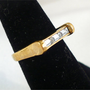 Vintage AVON 3-Stone CZ Baguette Ring, Size 6, Pinkie, Wedding Band
