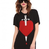 Dagger Boyfriend Tee - What's New | GYPSY WARRIOR