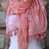 Tea Rose Scarf -  Cowl