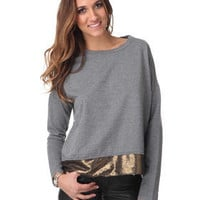DJPremium.com - Women - Shop by Department - Tops - Michel Marled Terry Sequin Sweater