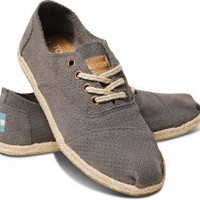 Grey Suede Women&#x27;s Cordones | TOMS.com