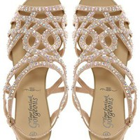 New Look Fabulous Diamante Trim Flat Sandal at asos.com