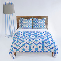 DENY Designs Home Accessories | Lisa Argyropoulos Retrocity In Blue Sky Duvet Cover