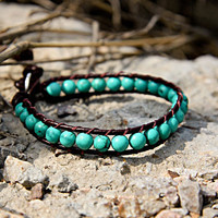 December Turquoise Beaded Bracelets
