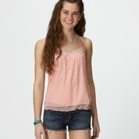 AE Metallic Dot Chiffon Cami | American Eagle Outfitters