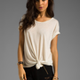 LnA Lasso Tee in White from REVOLVEclothing.com