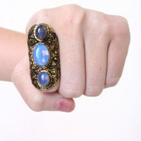 Triple Opal Knuckle Ring - CALICO