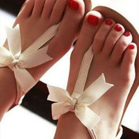 Bow Summer Sandals from sniksa