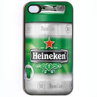 iPhone 4 4s Case Heineken Beer Keg Hard Case comes by KustomCases