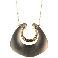 Gold Angled Horseshoe Pendant :: Necklaces :: Jewelry By Category :: Alexis Bittar