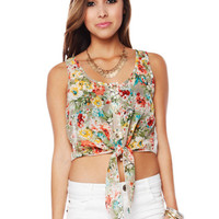Papaya Clothing Online :: KNOTTED FLORAL BLOUSE