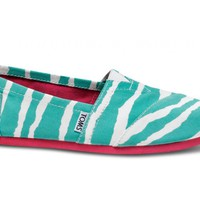 Turquoise Zebra Women&#x27;s Vegan Classics