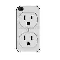 Plug Outlet iPhone 4 iPhone 4 case iPhone 4S case by caseOrama