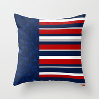 Stars and Stripes Throw Pillow by ts55