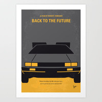 No183 My Back to the Future minimal movie poster Art Print by Chungkong