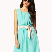 Polka Dot Shift Dress w/ Sash | FOREVER 21 - 2034479167