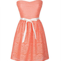 Ribbon Lace Tube Dress
