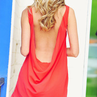 Back In Action Dress: Deep Coral | Hope's