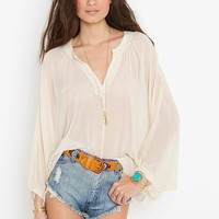 Beaded Chiffon Blouse