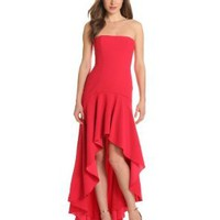 BCBGMAXAZRIA Women&#x27;s Evangelina Strapless Fitted Dress:Amazon:Clothing