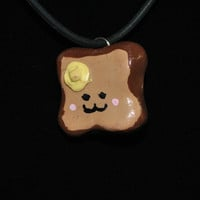 Adorable Melting Butter Toast Pendant by NightStarStudios on Etsy