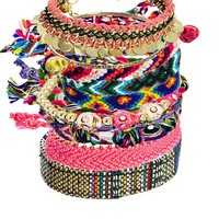 River Island Festival Friendship Bracelets Multi Pack