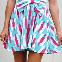 Never Felt Classier Skirt: Hot Pink/Teal | Hope's