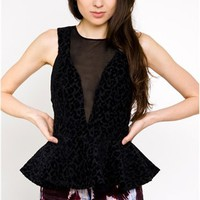 First In Line Peplum Top- Keepsake- $128