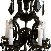 Czech Crystal Chandelier - One Kings Lane - Vintage  Market Finds - Lighting
