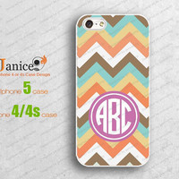 customerized monogrammed iphone 5 cases for iphone 4, iphone 4s case, iphone 4 cases,  wave designer iphone cases 5 W00145