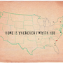 Custom Print  Home is Wherever  I'm with you  by MursBlanc on Etsy