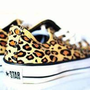CONVERSE ALL STAR LO ATHLETIC SHOE - TAN LEOPARD