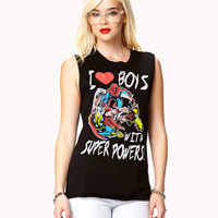 I Heart Super Powers Marvel® Muscle Tee