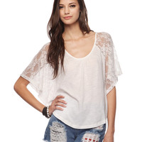 Lace Sleeves Top | FOREVER21 - 2000033414