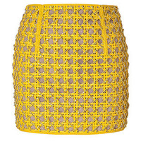 Balmain - Mini Skirt with Crystals in Dark Yellow