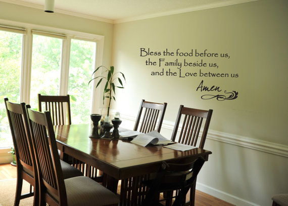 Wall Decal Bless the food before us from YourDecorStore  : original from wanelo.com size 570 x 407 jpeg 55kB