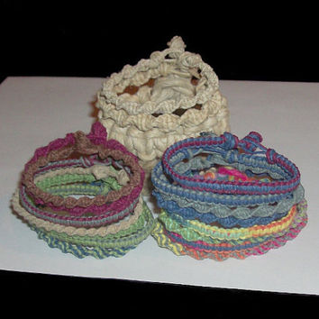 Simply Hemp Bracelets  Choose Your Style by oneofakindhemp on Etsy