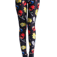 ROMWE | Sesame Street Big Bird Print Leggings, The Latest Street Fashion