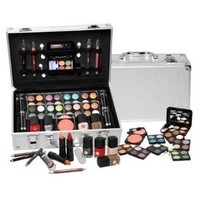 SHANY Cosmetics Carry All Train Case with Makeup and Reusable Aluminum Case, Cameo:Amazon:Beauty