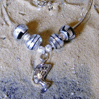 Egyptian Necklace. Sterling silver charm necklace.