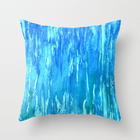 Wet and Wild Throw Pillow by Rosie Brown
