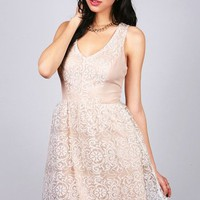 Veiled Brocade Dress | Cute Dresses at Pinkice.com