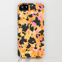 Camouflage #4 - Orange iPhone & iPod Case by Ornaart