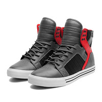 SUPRA SKYTOP | GREY / RED / BLACK - WHITE | Official SUPRA Footwear Site