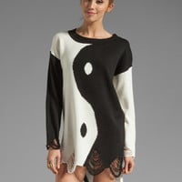 UNIF Ying Yang Sweater in Black/White from REVOLVEclothing.com