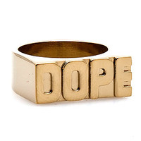 DOPE The Dope Singlet Ring in Gold : Karmaloop.com - Global Concrete Culture